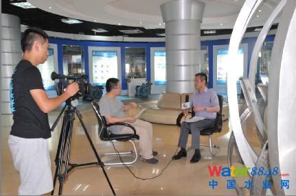 凯泉集团总裁林凯文接受中国梦青年创业公益基金会记者采访 为中国泵图片