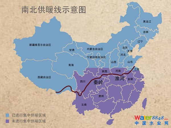 淮河线- 中国南北供暖线分界