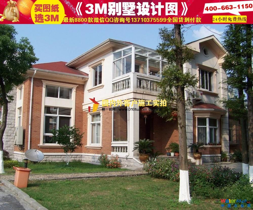 二三层楼房设计图|经济型别墅盖房子设计图|别墅外观
