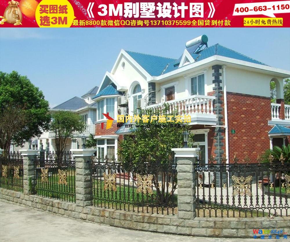 农村别墅外观效果图 造价12万农村房子图片 别墅外观效果图纸