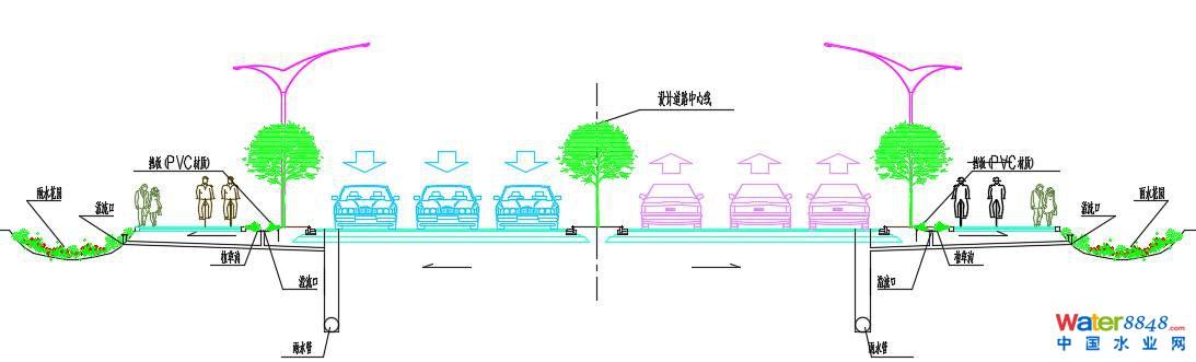 生物滞留池和植草沟设计指南 / 城市道路海绵方案设计
